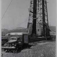 Truck and Oil Well