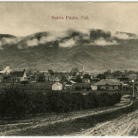 View of Santa Paula postcard