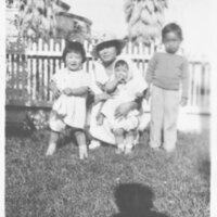 Anna Inadomi With Her Children