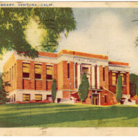 Public Library, Ventura, Calif. Post Card